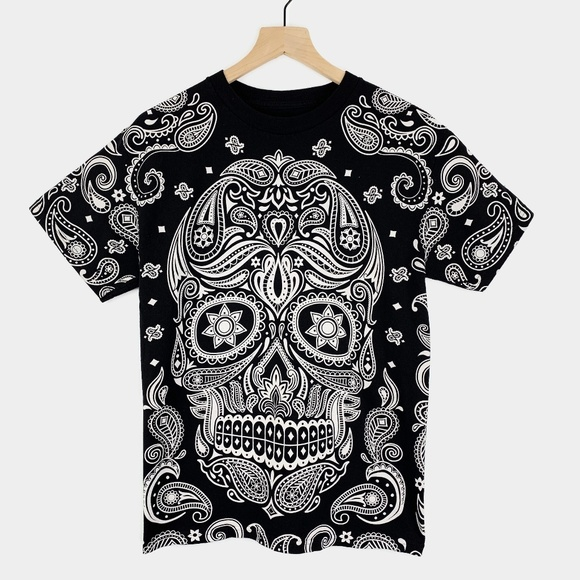 DOM Other - dom Sugar Skull Day of the Dead Black T Shirt M